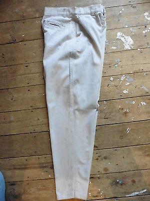 """Bellissimo True Vintage Warehouse 80 Strousers Taglia 12 Vera Vita 26.5 """"nuovo Senza Etichetta Cotone Twill- Rinvigorire Efficacemente La Salute"""