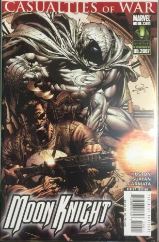 MOON KNIGHT #9 CASUALTIES CIVIL WAR MARVEL 2007 NM PUNISHER COVER