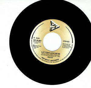 MFD-IN-CANADA-POP-ROCK-1979-45-RPM-RACEY-LAY-YOUR-LOVE-ON-ME-I-BELIEVED-YOU