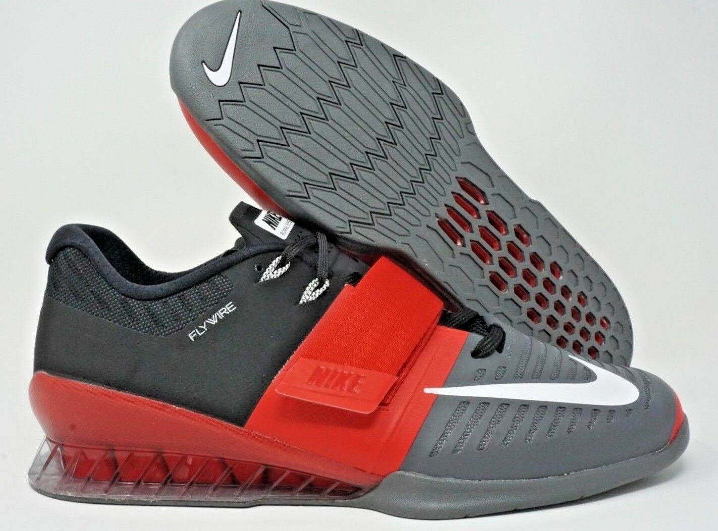 Nike Romaleos 3 Cross Training  Weightlifting shoes Black Red Multi Size