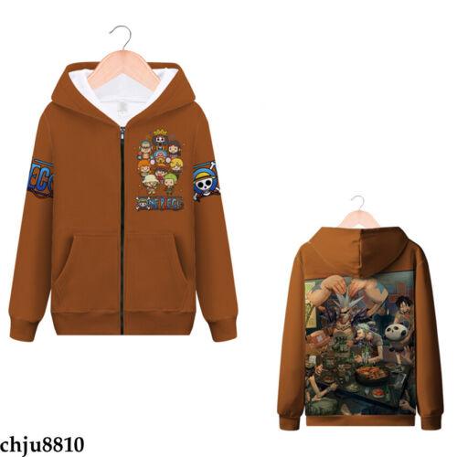 Anime One Piece Naruto0 Hoodie Zip Sweater Unisex Jacket Coat Sweatshirt Costume