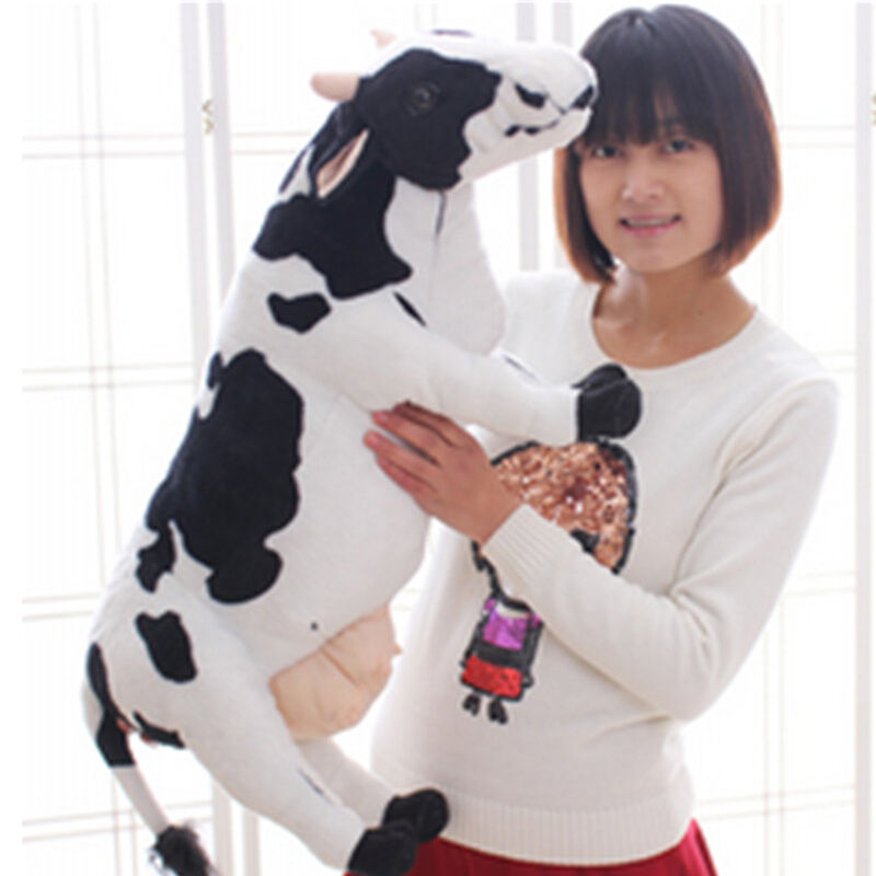 70CM Big Simulation Milk Cow Plush Toys Giant Soft Stuffed Animal Doll Kid Gift