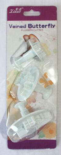 décoration gâteau. Papillon Piston Cutters Ensemble de 3 grands Piston Cutters