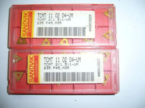 10.Stk Wendeplatten TCMT 11 02 04-UM 235 P45,M35 ***Neu***