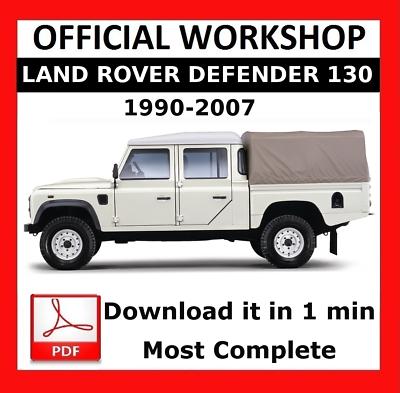 # FACTORY WORKSHOP SERVICE REPAIR MANUAL LAND ROVER DEFENDER 2007-2011