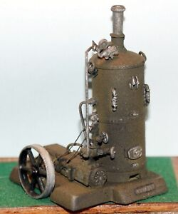 Vertical-Boiler-with-valves-and-steam-water-pump-Unpainted-Langley-F291