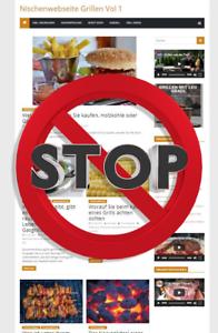 Grillen Webprojekt, Nischenwebseite, Affiliate Marketing, kompletter Blog