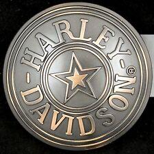 Harley Davidson Motorcycle Fatboy Circle Star Military Belt Buckle  NOS NWT New
