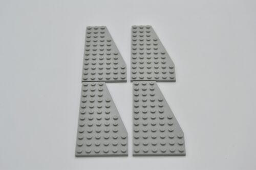 LEGO 4 x Flügelplatte rechts althell grau Light Gray Plate 12x6 Right 30356
