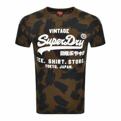 Homme Superdry Vintage Label Boutique AOP T shirt (vert)   eBay