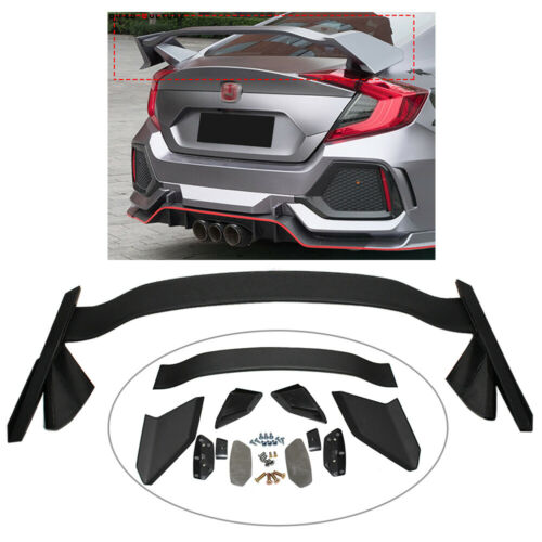 Trunk Spoiler Wing For Honda Civic 4Dr Sedan Type R 2012-2015 Matte Black Primed