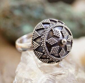 Silberring-offen-56-62-59-66-Vintage-Halbkugel-Orient-Kuppel-Silber-Ring
