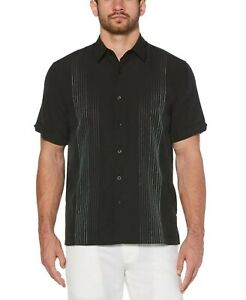 Cubavera-OMBRE-EMBROIDERED-STRIPE-SHIRT-Jet-Black-Size-XL-Style-CUWS9084DS