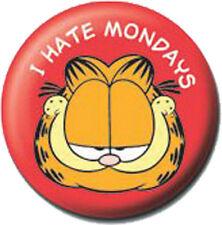 Garfield I Hate Mondays- 1745 - Ansteck Button Pin - Ø 2,5 cm  - Neu - Anstecker