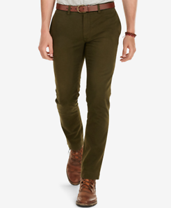 Polo-Ralph-Lauren-Men-039-s-Slim-Fit-Chino-Pants-Dark-Loden-36Wx32L