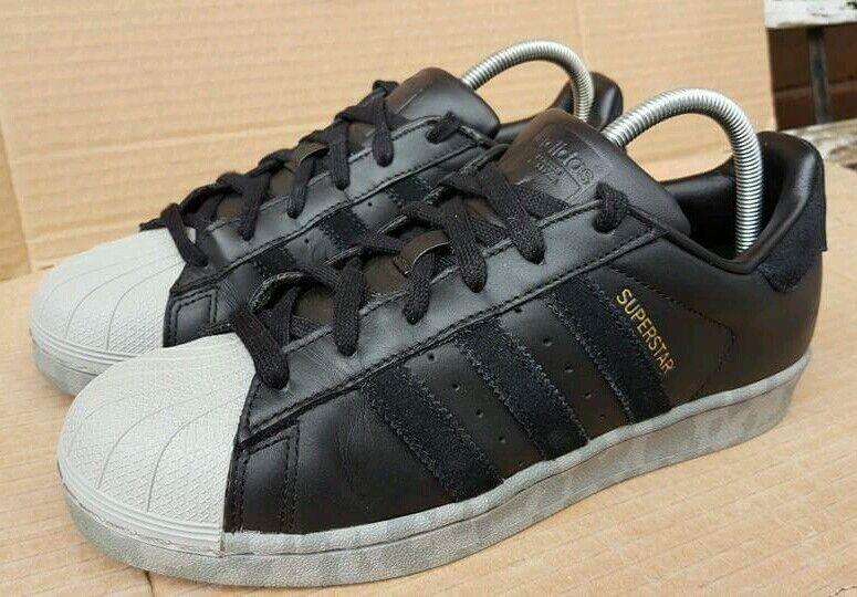 Adidas Superstar Preciosa Negro y y y gris Camo Talla 6 Reino Unido Excelente apenas usado  mas barato