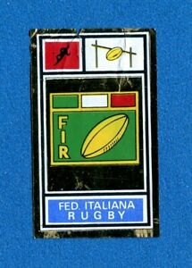 FIR RUGBY CAMPIONI SPORT 1969-70-PANINI-Figurina STEMMA//BADGE-Rec