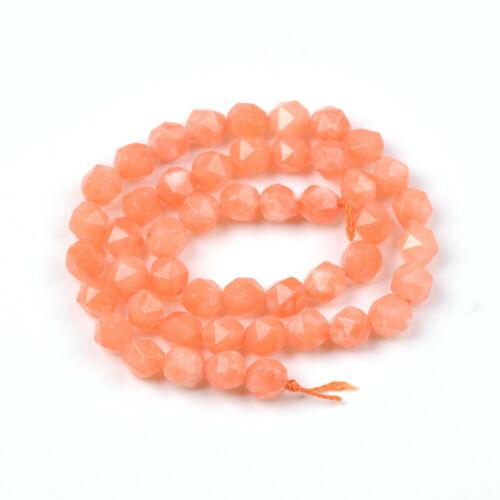 Natural Gemstone Star Cut Faceted Grade Polygons Bracelet Spacer Beads 8MM 15/'/'