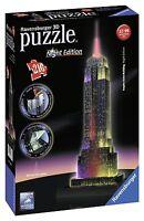 Ravensburger Empire State Building Bei Nacht Night Edition 3d Puzzle Spiel