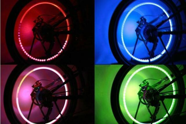 2PCS 5LED Bike Light Bicycle Tyre Tire Valve Caps Wheel Spokes LED Light 5#
