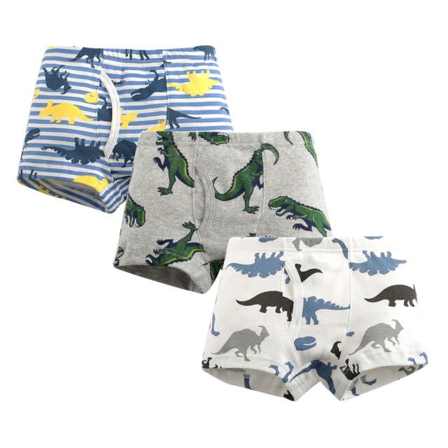 YoungSoul Boys Boxer Shorts 6 Pack Dinosaur Underwear for Kids 2-9 Years