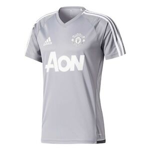 8172ec444572 Details about adidas Manchester United FC 2017 - 2018 Training Soccer Jersey  New Gray   Silver