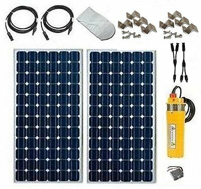 SOLAR WELL PUMP - LOW COST BASIC KIT - PUMP, PANELS, CABLES, POWER BOOSTER