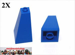 2X Lego® 3041 Dachsteine Firststeine Slope 2X4 45° Blau Blue