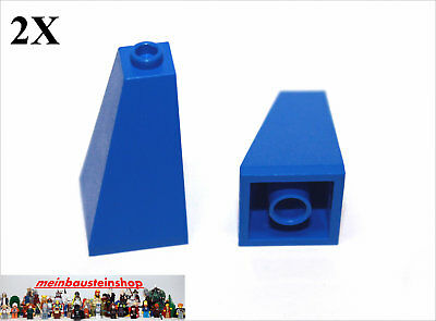 Sinnvoll 2x Lego® 3685 Dachsteine Turmspitze Slope 73° 2x2x3 Blau Blue