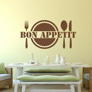 Kitchen Bon Appetit Wall Sticker Saying Dining Table Room Vinyl - Wall stickers for dining room
