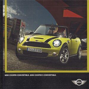 Mini Convertible 2009 10 Uk Market Sales Brochure Cooper Cooper S