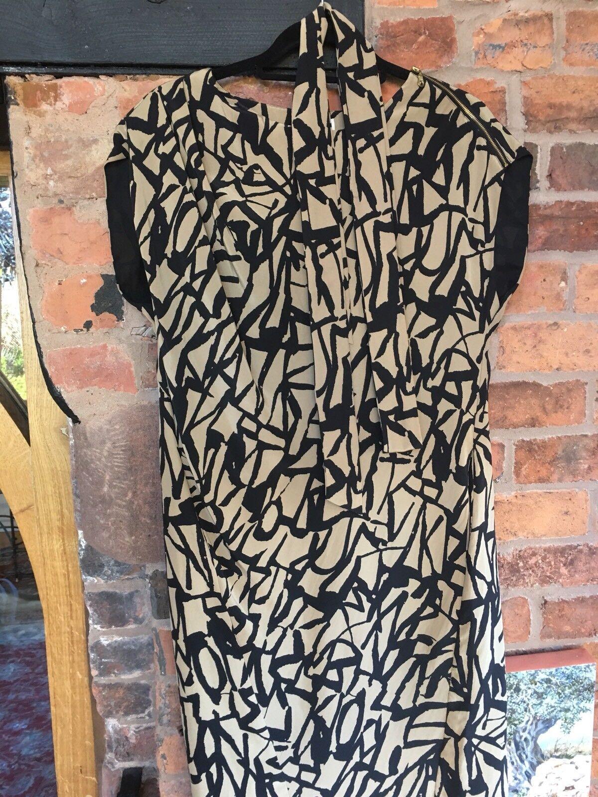 WHISTLES Pure Silk Shift Dress Size 10 BNWOT