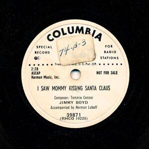JIMMY-BOYD-1952-Columbia-39871-53-G-Promo-I-Saw-Mommy-Kissing-Santa-Claus