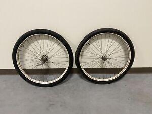 "PREWAR 1930'S / 40'S Elgin TIRE BICYCLE 26"" DROP CENTER WHEEL SET"