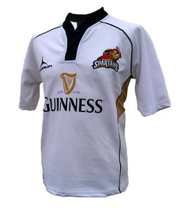 Olorun Spartans Supporters Rugby Shirt White S-4XL