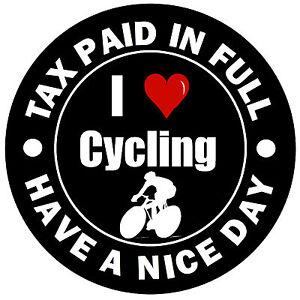I Love Cycling Fun Car Sticker Decal Replace Old Tax Disc 1
