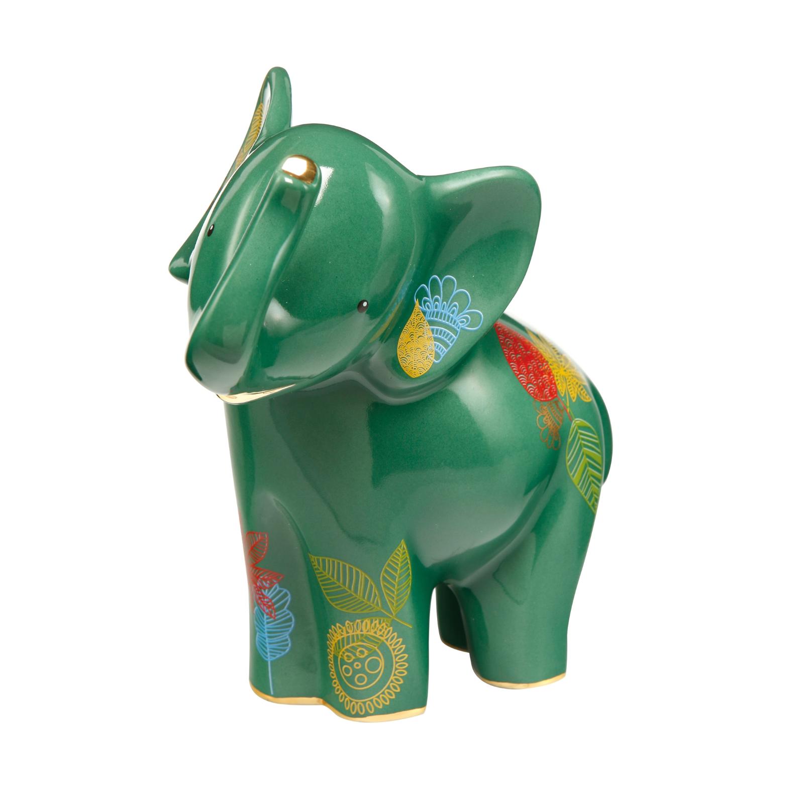 Goebel Elefant  Tahri  grün m EchtGolddekor Elephant de Luxe limitiert NEU 2019