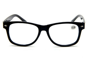 Large Frame Retro Reading Glasses : Retro Large Black Frame Clear Lens Unisex Reading Glasses ...