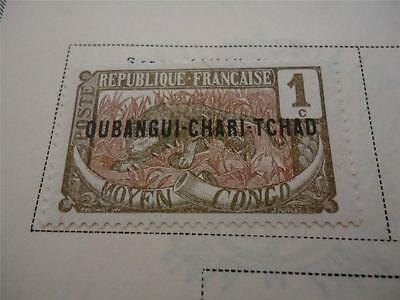 One Official Vintage Ubangi Postage Stamp 1915-1922 On Page Make an Offer