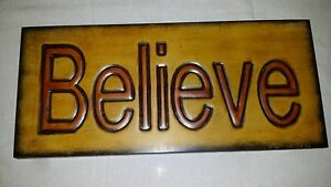 WOW-Nice-Metal-Chic-Cafe-034-Believe-034-Sign-Wall-Hanging-16-034-by-7-034