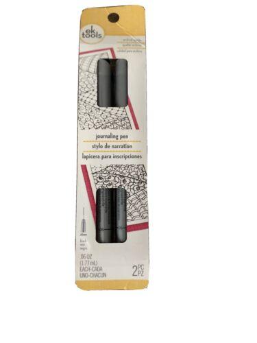 EK Tools Journaling Pens 2 Pack Black Writing Pens .65mm