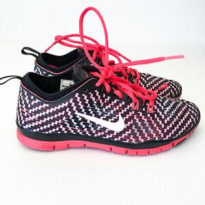 Nike-Free-5-0-Tr-Fit-4-Print-Womens-shoes-629832-005-Black-Crimson-size-US-6-5