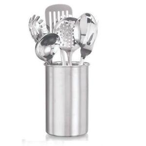 Image Is Loading 7pcs Stainless Steel Kitchen Utensil Set Fork Ladle