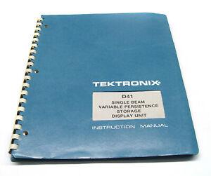 Tektronix Instruction Manual F. D41 Storage Display Unit, Utilisation & Service-afficher Le Titre D'origine