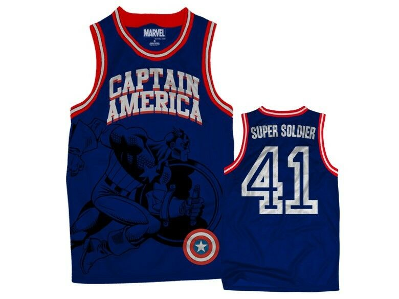 CAPTAIN AMERICA SUPER SOLDIER MARVEL COMICS HERO JERSEY TANK TOP T SHIRT S-2XL