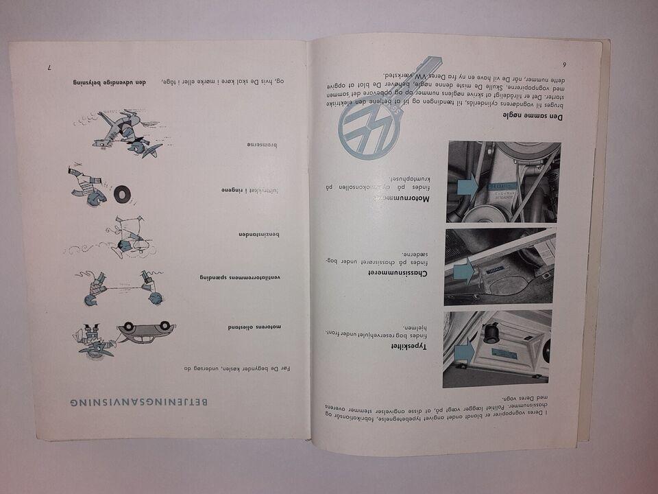 Instruktionsbog VW 1957, VW