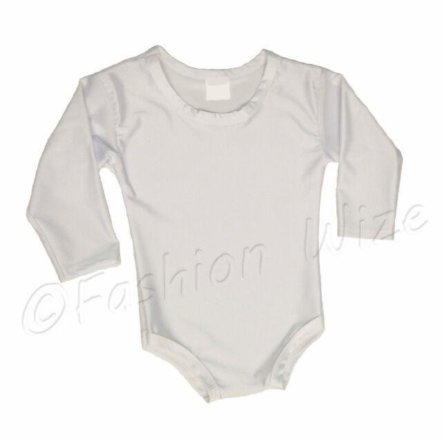 Girls Gymnastics Leotard Ages (2-18) Stretchy Dance Sports Sleeve Top Uniform