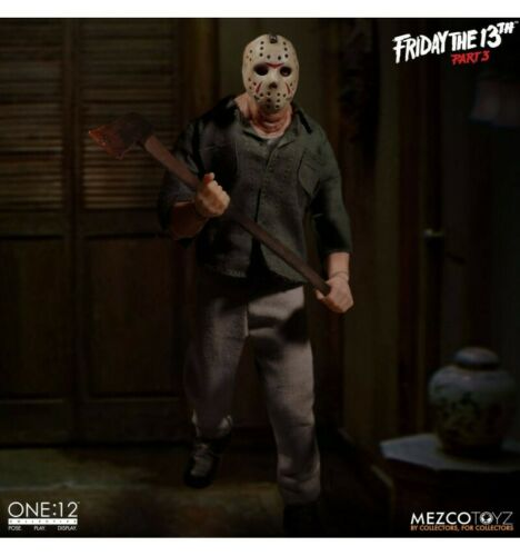 Meurtres en 3 dimensions Friday the 13th part.3 Mezco One:12 Jason Voorhees