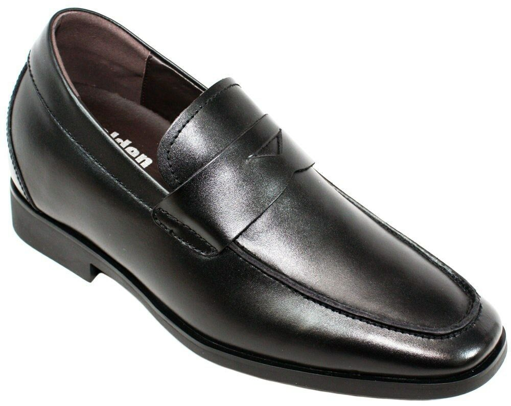 CALDEN K282013 - 2.6 (environ 6.60 cm) Ascenseur Hauteur AugHommestation Noir Slip-On Mocassins