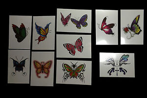 10-Books-of-Large-Glitter-Butterfly-Temporary-Non-Toxic-Tattoos